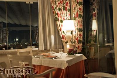 Roof Garden dining room at dinnertime