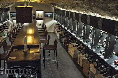 The medieval vaulted cellar was an inviting tasting room