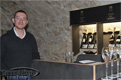 Producer Sébastien Mouzon conducted a tasting of his Champagnes