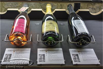 All available labels from the various artisan growers were displayed in the cellar