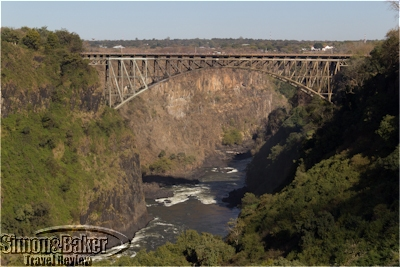 The bridge connecting Zambia and Zimbabwe
