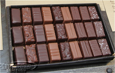 Fillings are coated with a thin layer of chocolate