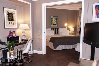 The bedroom of the Opera suite.