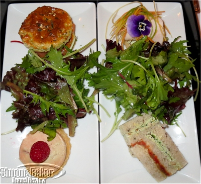 Tea sandwiches and salad
