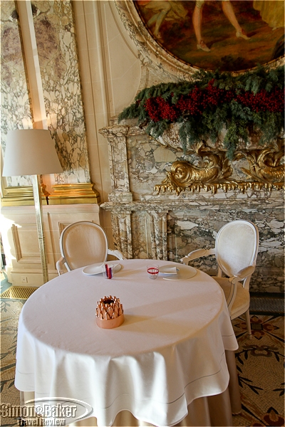 Our table at Restaurant le Meurice