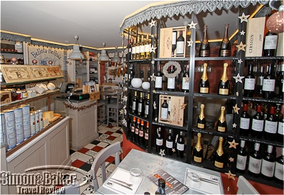 A selection of Spanish wines and champagne were available