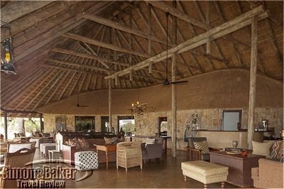 The lounge was an eclectic mix of safari antiques, rustic furniture, local crafts