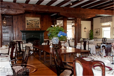 The historic Old Mill Room was built from the timber of an abandoned 1834 gristmill