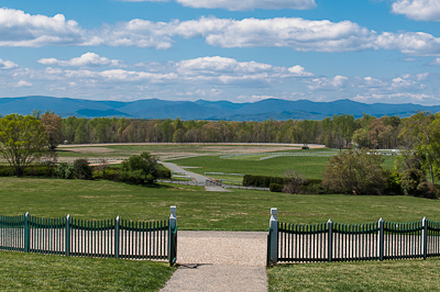 Montpelier offered stunning views of the Blue Ridge Mountains