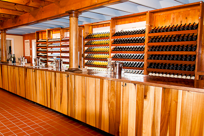The tasting room at Jefferson Vineyards Winery