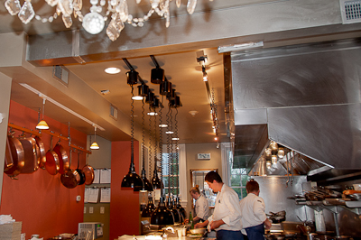 The Chef's Counter provided a front row view of the action in the kitchen