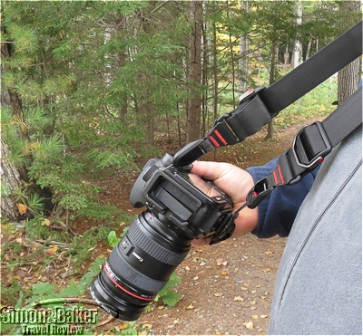 The Slide shifts the weight of the camera from the hand for long walks