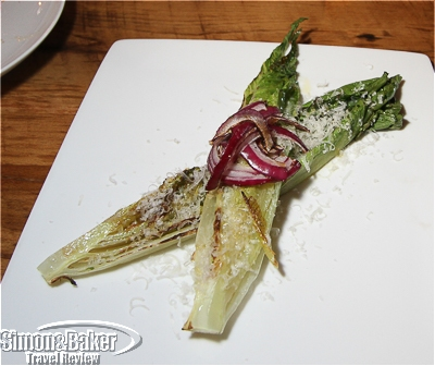 Grilled romaine from the asador