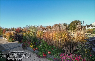 The grounds featured plantings of vegetables and decorative plants