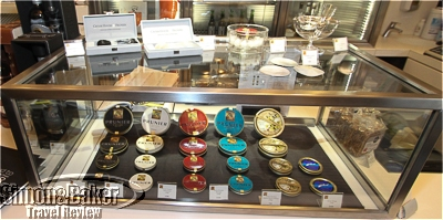 The Prunier shop had a selection of caviar on display.