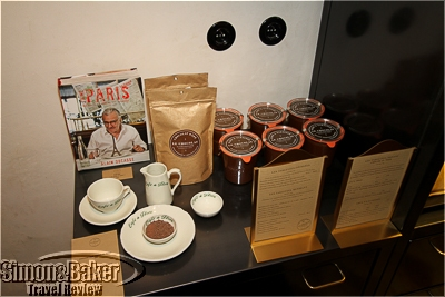 Chocolate spread and hot chocolate mix display