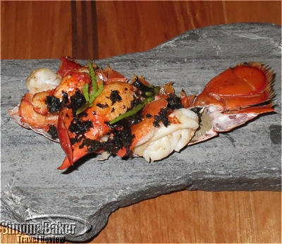 Locally sourced lobster