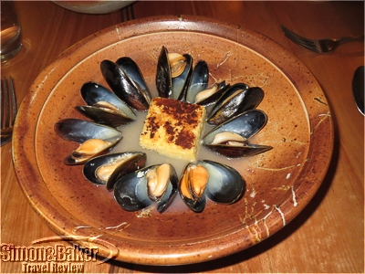 The mussels with polenta