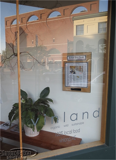 The front window of Vinland faces the Portland Museum of Art