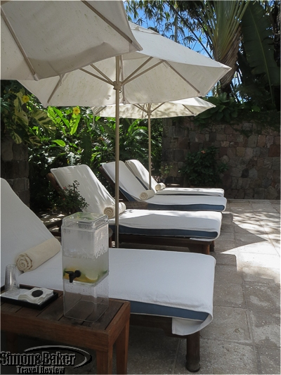 One of several outdoor areas at the Four Seasons Spa