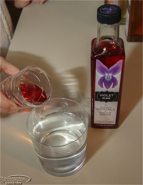 Violet extract in water