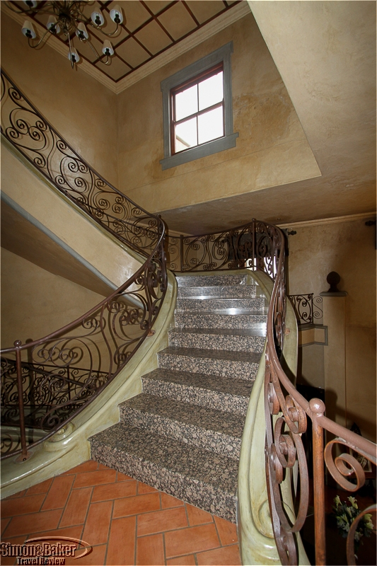 The central marble staircase
