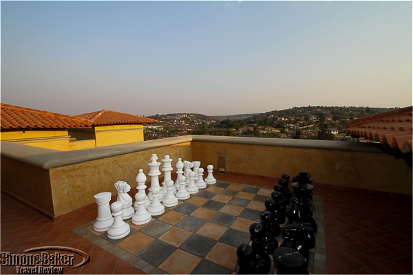 Outdoor chess with a view at Castello di Monte