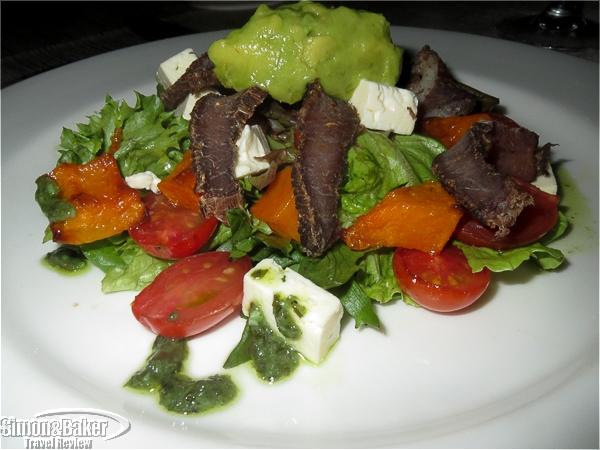 My biltong salad was delicious
