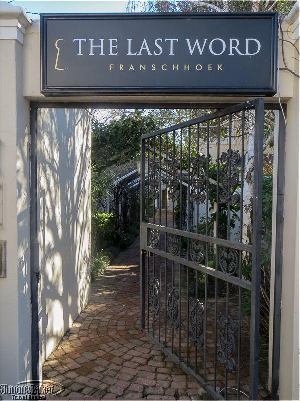 The outer gate at The Last Word Franschhoek