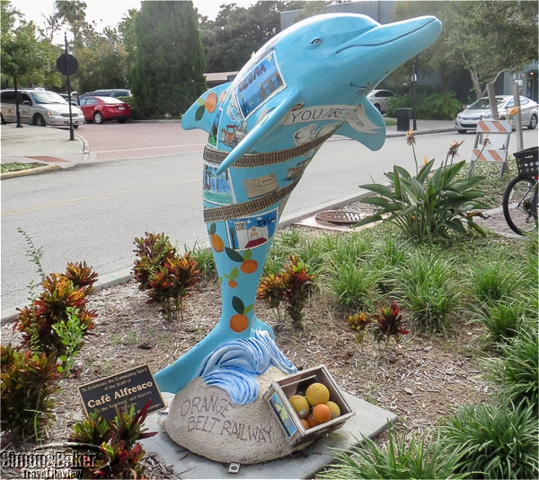 Decorated dolphins dotted the area