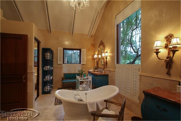 The bath featured a claw foot tub