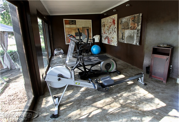 The exercise room at Chitwa Chitwa
