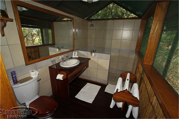 The bathroom in the tent