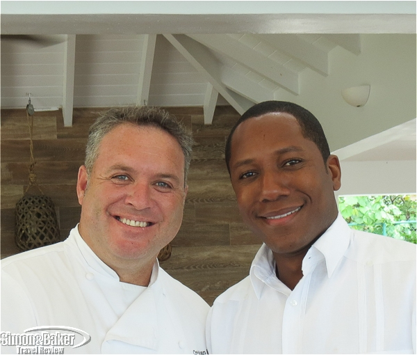 Cristian Rebolledo, chef, Kitchen218, and Francisco Hodge, manager, Food and Beverage Beach House Turks and Caicos