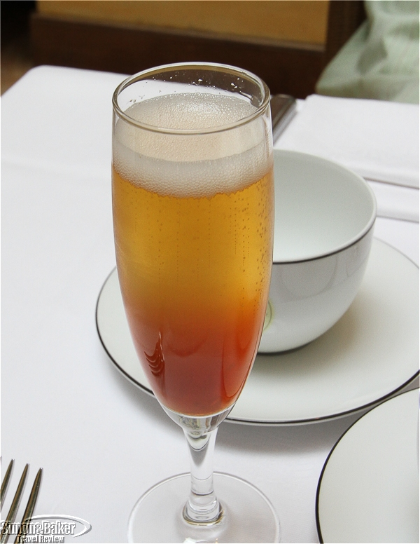 Brunch included a champagne cocktail