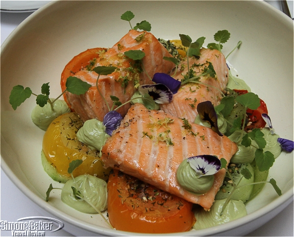 Salmon prepared multiple ways