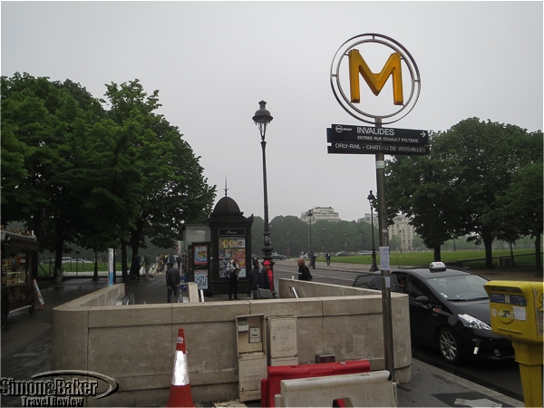 Metro stop Invalides in Paris