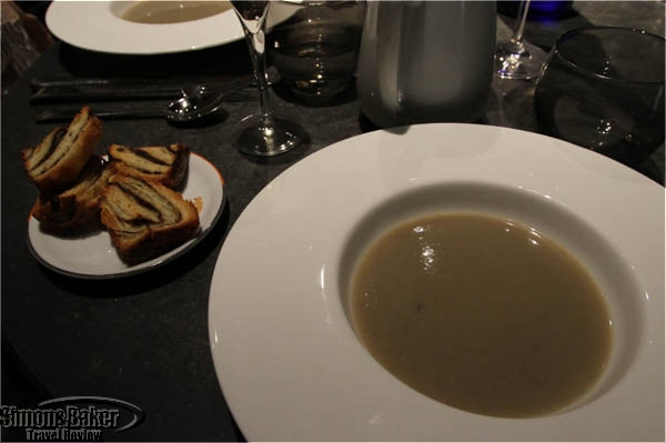 Soup and brioch from Guy Savoy bakeries