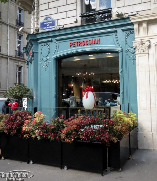 The Petrossian shop window on Boulevard de la Tour-Maubourg