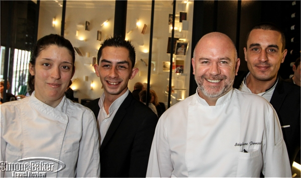 Chef Perraud and the team