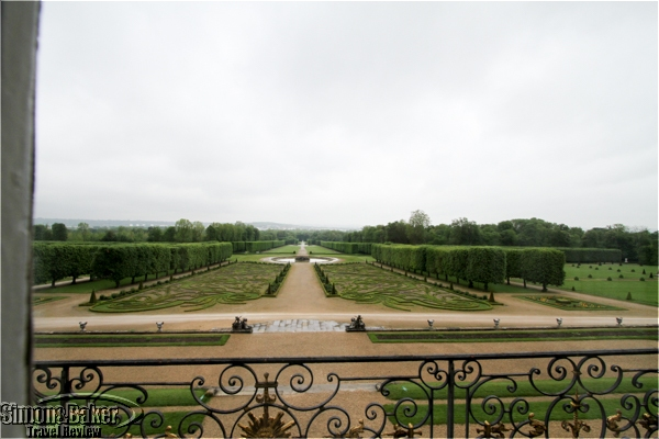 The gardens viewed from the second floor
