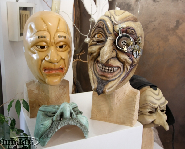 The masks very from traditional to mondern concepts