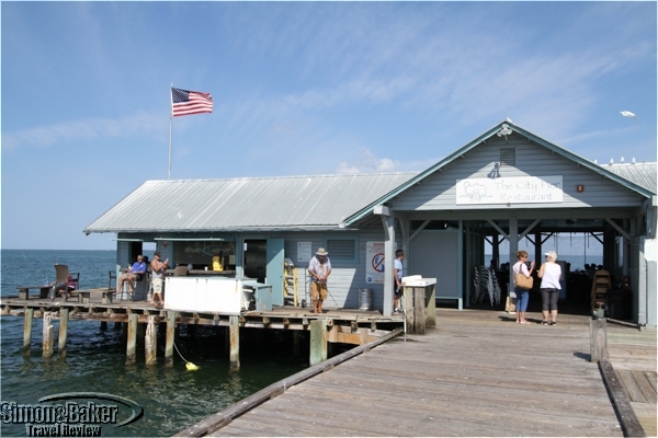 The City Pier Restaurant surrounded by locals fishing